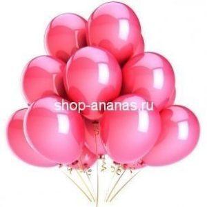 набор розовых гелиевых шаров