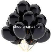 набор черных гелиевых шаров