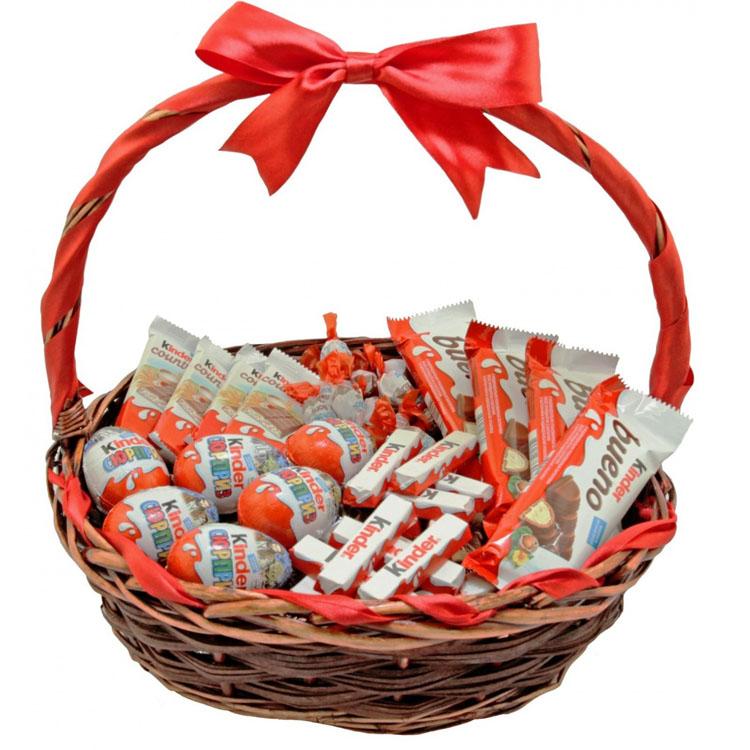Корзины с конфетами фото